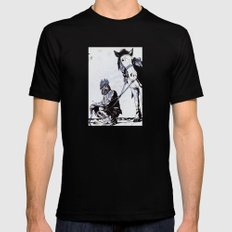 Rooster Man MEDIUM Black Mens Fitted Tee