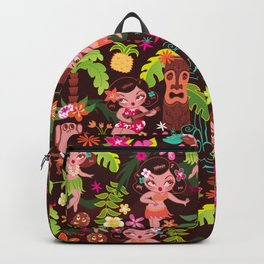Hula Cuties Pattern Backpack