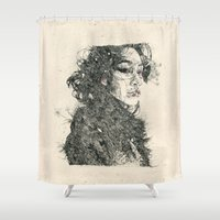 child Shower Curtains featuring Eden Child by NVM Illustration