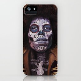 Jimi Hendrix Day of the Dead iPhone Case