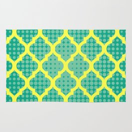 Moroccan Green & Yellow Rug