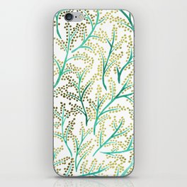 Green & Gold Branches iPhone Skin