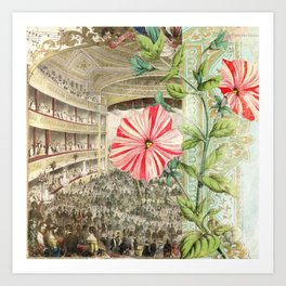 A Night At The Theatre Art Print