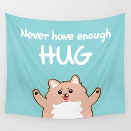 Hug Pomeranian Wall Tapestry