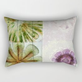 Essive Truth Flowers  ID:16165-132545-22351 Rectangular Pillow