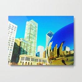 Chicago Bean Metal Print