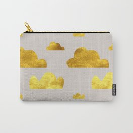 Gold Clouds Carry-All Pouch