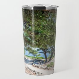Calanques near Cassis in a summer day Travel Mug