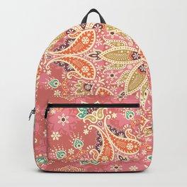 Paisly mandala hand drawn illustration pattern. Hand drawn painting ethnic background. Backpack