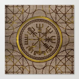 Vegvisir. The Magic Navigation Viking Compass Canvas Print