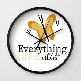 WISE BUTTERFLY Wall Clock