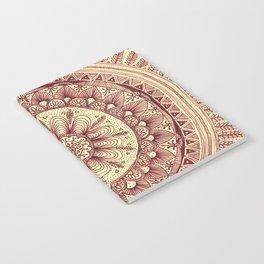 mandala: maroon Notebook