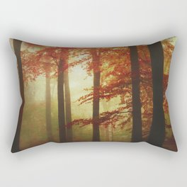 Painted Forest - Moody Autumn Woodlands Rectangular Pillow