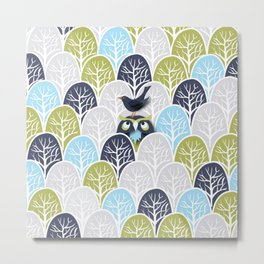 Forest Owl No. 2 Metal Print