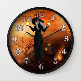 Witch and Fire Wall Clock