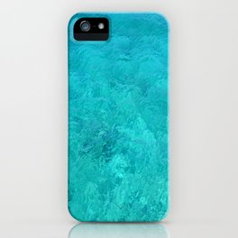 Clear Turquoise Water iPhone Case