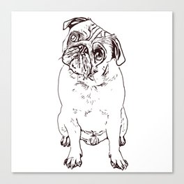 Pug the little dog as a gift for lovers Canvas Print