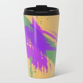 Intrepid, Abstract Brushstrokes Travel Mug