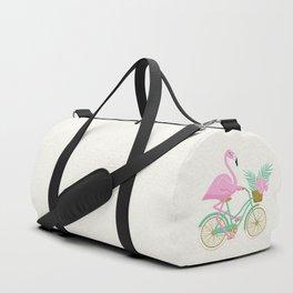 Tropical Flamingo Bike Duffle Bag