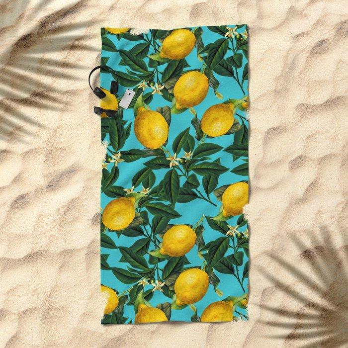 LEMON PATTERN-04 Beach Towel