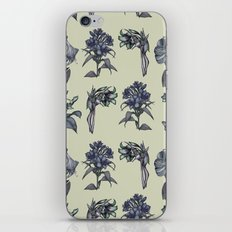 Botanical Florals | Vintage Dark Blue iPhone Skin