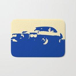 Pontiac Firebird, Blue on Cream Bath Mat