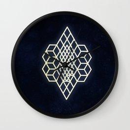 Diamond cubism Wall Clock
