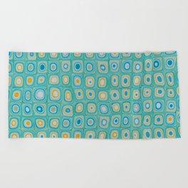 Yellow Blue Beach Towel
