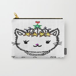 MEOW - White Carry-All Pouch