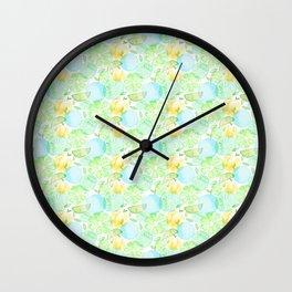 Green fruits Wall Clock