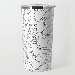 Australian Animals Humour - Fancy Dress Travel Mug