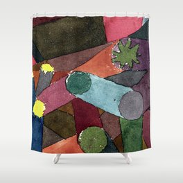 "Paul Klee ""Abstract Garten Dämmerung ( Abstract Garden Dusk)"" Shower Curtain"