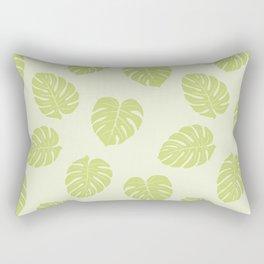 Monstera trendy - green Rectangular Pillow
