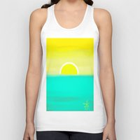birthday Tank Tops featuring Birthday Yellow by ANoelleJay