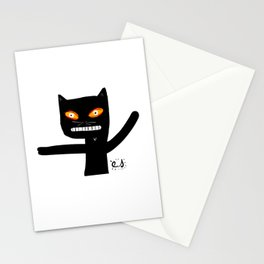 Le chat noir Stationery Cards