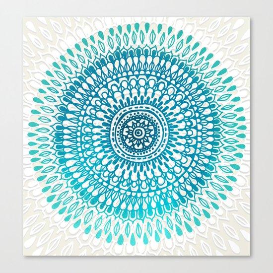 Radiate in Teal + Emerald Canvas Print