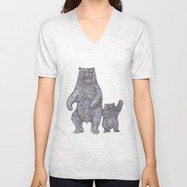 Bear Tricks Unisex V-Neck