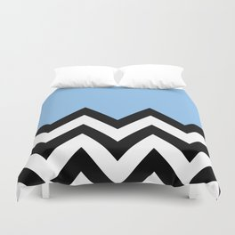 BLUE COLORBLOCK CHEVRON Duvet Cover