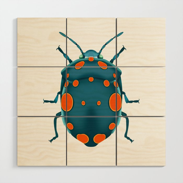 Physic Nut Stink Bug Wood Wall Art