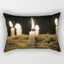 Candle in the Wind Rectangular Pillow