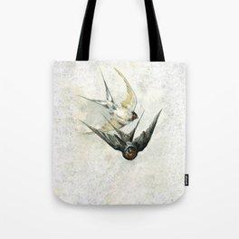 Vintage Soaring Birds Tote Bag