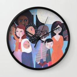 WHY AM I ME? SUBWAY SCENE Wall Clock