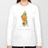 rio Long Sleeve T-shirts featuring Rio  by Nicksman