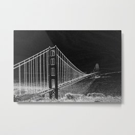 Golden Gate Abstract Metal Print