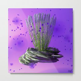 Purple Breeze Metal Print