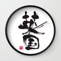uk Wall Clocks featuring UK by shunsuke art