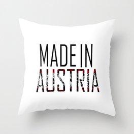 Made In Austria Throw Pillow