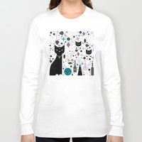 kittens Long Sleeve T-shirts featuring Halloween Kittens  by Carly Watts