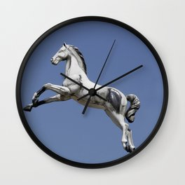 Escaped carousel horse Wall Clock