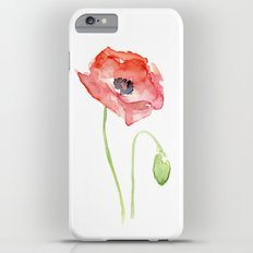 Red Poppy Watercolor Flower Floral Abstract iPhone 6s Plus Slim Case